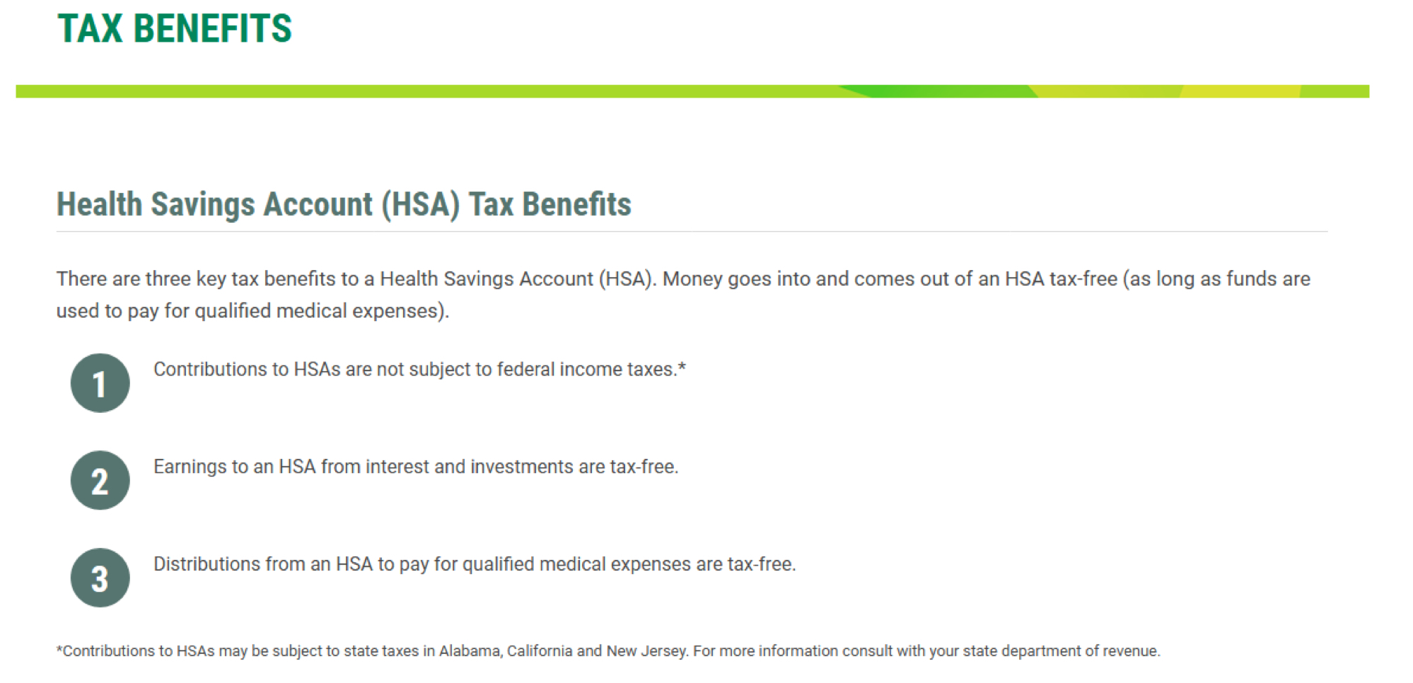 California HSA Information | The Benefits Store
